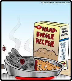 Cartertoons.com: Handburger Helper Cartoon