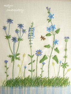 Freestyle Embroidery : Blue Garden - Mayu Embroidery