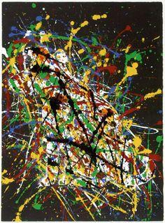 Jackson Pollock. Vintage 1960 Scorpio