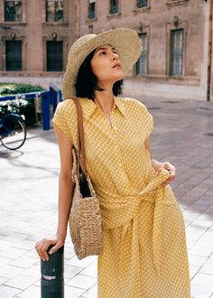 & Other Stories - Summery straw styles Bbq Outfits, Summer Outfits, Camo Dress, Shirt Dress, Color Trends, Striped Dress, What To Wear, Fashion Photography, Street Style