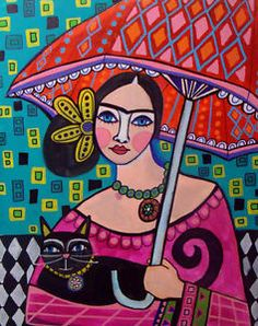 mexican folk art galler | ... Art-Poster-Painting-Print-Mexican-Folk-Art-Frida-Kahlo-Heather-Galler