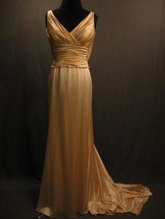 1930s Peach dress