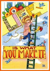 "Mary Engelbreit Christmas Magnet ""Santa Believe"""