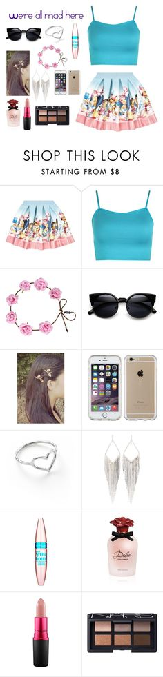 """""""We're all mad here"""" by abbydog8 ❤ liked on Polyvore featuring beauty, Monnalisa, WearAll, Speck, Jordan Askill, Jules Smith, Maybelline, Dolce&Gabbana, MAC Cosmetics and NARS Cosmetics"""