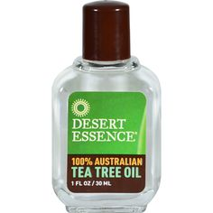 Desert Essence Australian Tea Tree Oil - 1 fl oz - Desert Essence Australian Tea Tree Oil Description:  100% Australian Tea Tree Oil Desert Essence Tea Tree Oil is an essential oil grown in Australia with inherent antiseptic qualities. Disclaimer These statements have not been evaluated by the FDA. These products are not intended to diagnose treat cure or prevent any disease.