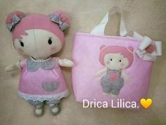 Tilda Baby toda em feltro.  ateliê Drica Lilica.