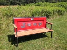 THE ORIGINAL  Jeep Blue Collar Tailgate by YesterdayReclaimed, $799.00  Want!