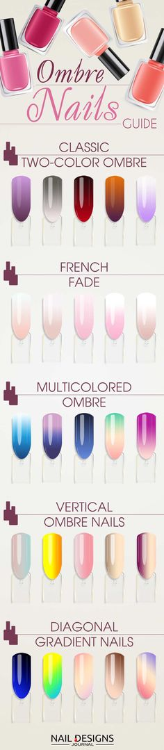Trendy Options for Ombre Nails For Any Occasion ★ See more: https://naildesignsjournal.com/ombre-nails-colorful-combinations/ #nails