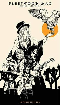 Awesome graphics.. Fleetwood Mac #stevienicks #monthlymuse