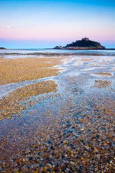 St Michaels Mount, Cornwall, England. A church built on the summit of the island after the Norman invasion when St Michael's Mount was granted to the Benedictine Abbey of Mont St Michel in France