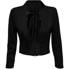 Jane Norman Sharp Shoulder Jacket ($72) ❤ liked on Polyvore