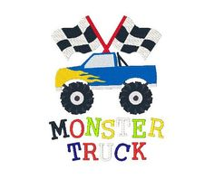 Hey, I found this really awesome Etsy listing at https://www.etsy.com/listing/203788965/monster-truck-machine-embroidery-design