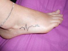 Top Tattoo Foto Ekg Images for Pinterest Tattoos