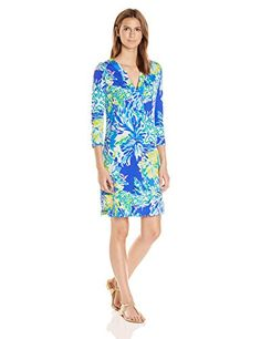 2c0def0363161f Lilly Pulitzer Womens 24355 Riva Dress Brilliant Wade and Sea Reduced XS **  Be sure