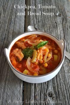 Chickpea, Tomato & Bread Soup