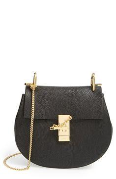 My Nordstrom Collection: Chloe Drew Leather Shoulder Bag - Black by Chloé Chloe Handbags, Purses And Handbags, Chloe Purses, Hermes Handbags, Small Handbags, Coach Handbags, Leather Saddle Bags, Leather Crossbody Bag, Leather Handbags