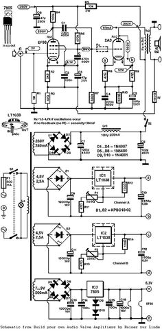 Triode Ended Individual (SET) Tubo 2A3 Amplificador Schematic