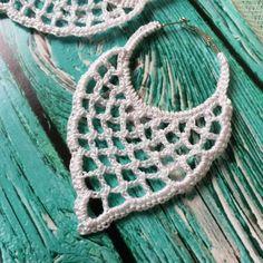 crocheted earrings ONE Crochet Earrings Pattern, Earring pattern, Crochet Wedding Earrings, Wedding Hoop Earrings Pattern, easy pattern for beginners Buying this item you buy a Crochet Pattern Free, Crochet Jewelry Patterns, Crochet Earrings Pattern, Crochet Accessories, Crochet Necklace, Tutorial Crochet, Square Earrings, Heart Earrings, Flower Earrings