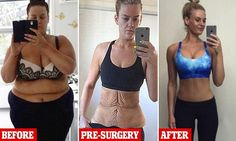 Woman shares an update of her incredible figure after losing 92 kilos #weightloss