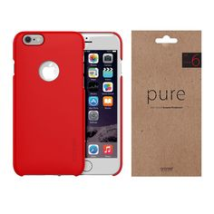 iPhone Case Screen Protector Film Araree Viewty Pure Red Package for Apple 6s Plus Case, 6 Case, Phone Screen Protector, Apple Iphone 6s Plus, Red Apple, Card Holder, Packaging, Pure Products, Film