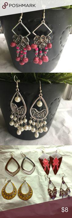 NWOT Bundle of (6) Dangle Earrings NWOT Bundle of (6) Dangle Earrings Paparazzi Jewelry Earrings