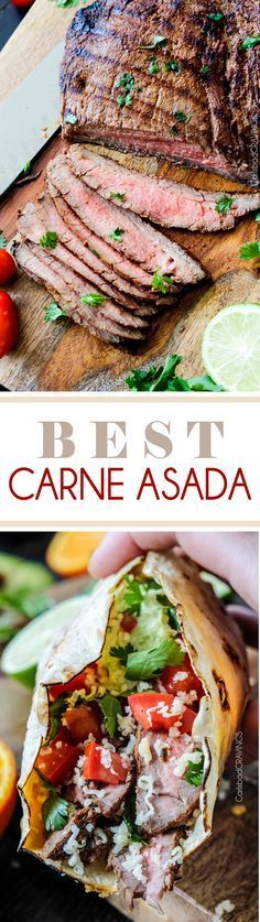 Best grilled Carne Asada marinated and spice rubbed for the most juicy, tender, flavorful Carne Asada EVER! Restaurant quality! via @carlsbadcraving