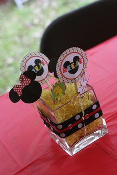 Mickey Mouse clubhouse birthday -- party decor centerpiece