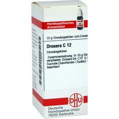 DROSERA C 12 Globuli:   Packungsinhalt: 10 g Globuli PZN: 07166608 Hersteller: DHU-Arzneimittel GmbH & Co. KG Preis: 5,50 EUR inkl. 19 %…