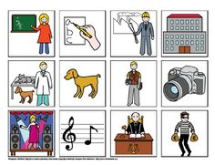 Povolání - co k sobě patří – (Mujblog.info v3.1) Toddler Crafts, Crafts For Kids, Picture Boards, Card Games, Game Cards, Social Studies, Activities For Kids, Classroom, Teaching