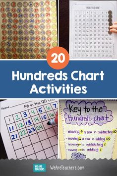 20 Hundreds Chart Activities to Teach Counting, Number Sense, and More. The hundreds chart is a valuable tool for learning to count and developing number sense. Try fun activities like mystery pictures, math riddles, and more. #math #teachingmath #elementary #classroom #classroomideas #kindergarten #preschool #teaching #educationalresources Easy Math Games, Math Activities, Riddles Kids, Number Riddles, Teaching Math, Maths, Teaching Ideas, Eureka Math, Math Anchor Charts