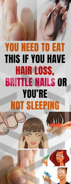 EAT THIS IF YOU HAVE HAIR LOSS, BRITTLE NAILS OR YOU'RE NOT SLEEPING #hairloss #brittlenails #sleeping #BestHairOilForHairLoss #BestHairLossShampoo