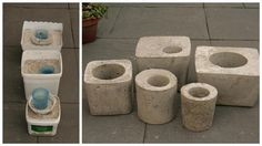 Weekend Project: Concrete Garden Planters & Stepping Stones