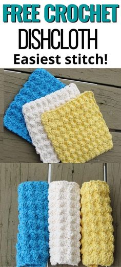 Crochet Wash Cloths, Wash Cloth Crochet Pattern, Crochet Dishcloths Free Patterns, Easy Crochet Patterns, Crochet Ideas, Washcloth Crochet, Crochet Dish Towels, Knitted Washcloths, Crochet Bags