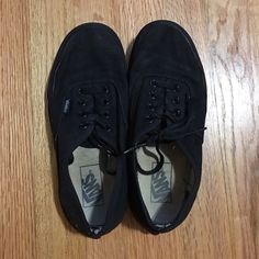 VANS Black vans... Used condition. Vans Shoes Sneakers