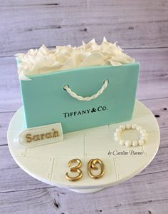 Tiffany gift bag cake