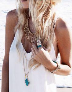 White gold & turquoise
