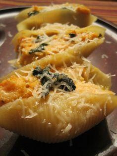 Sweet potato ricotta shells