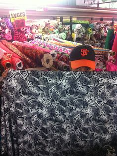 Hot Chakras Yoga fabric buying trip! Chief Yoga Officer searching for the finest. Hot Yoga and Fitness friends check back soon for new Shorts, Capris and Leggings!