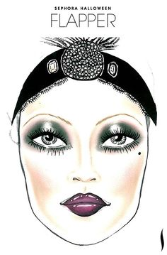 Need a #Halloween look? Get inspiration from the Flapper face chart created by our talented #Sephora artists. #SephoraSelfie