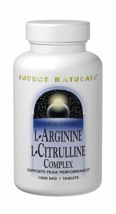 Amazon.com: Source Naturals L-Arginine L-Citrulline Complex, 120 Tablets: Health & Personal Care