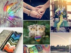{Monday Moods at DIY Weddings} Rustic Rainbow | DIY Weddings | CraftGossip.com .What wonderful projects- great details can be seen. Lovin' it!!