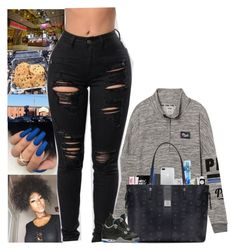 """"""""""" by kennisha84 ❤ liked on Polyvore featuring Victoria's Secret, Happy Plugs, Tzumi, Beats by Dr. Dre, M.A.C, MAC Cosmetics, MCM and NIKE"""