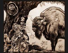 Samanul dac - ilustratie de Gabriel Tora zimbru bufnita owl ink illustration dacian shaman grafica Knife Art, Equine Art, Ink Illustrations, Gabriel, Owl, Painting, Archangel Gabriel, Owls, Painting Art