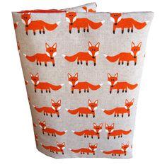 Protège carnet de santé aspect lin renard roux
