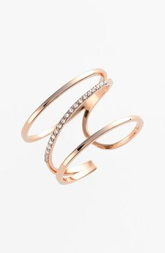 kismet by milka 'Lumiere' Diamond Open Ring available at #Nordstrom