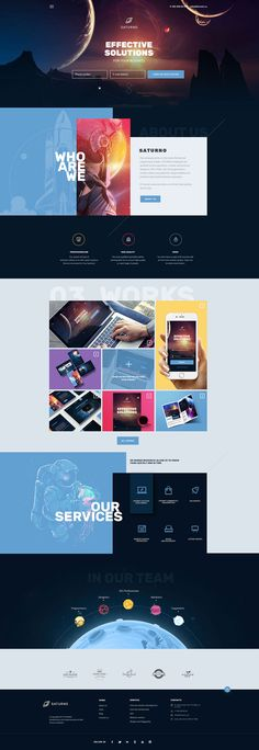 Saturno | Space Design | Portfolio | Dark and Light | PSD template by Kohfeta