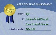 ihjh has done the B12 puzzle. Do you think you can do it too?
