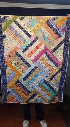 Zigger Zag pattern by Daniella Stout, owner of Cozy Quilt Patterns, Cozy Creative Center.