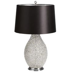 Crystal Bead Lamp - Black  GORGEOUS and so glamorous!