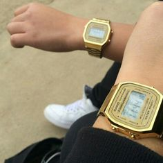Dream Watches, Cool Watches, Casio Gold, Dark Complexion, Couple Watch, Makeup Items, Black Eyeliner, Casio Watch, Gold Watch